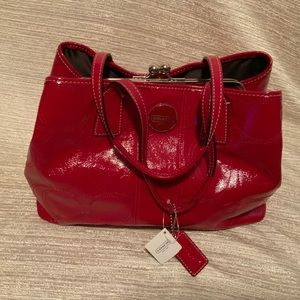 Coach Red Patent leather bag with TAGS